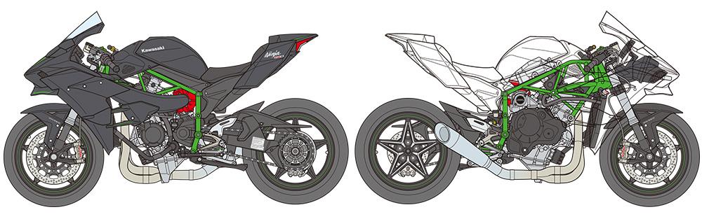 Tamiya Color Paints For Finishing The 1 12 Scale Kawasaki Ninja H2R