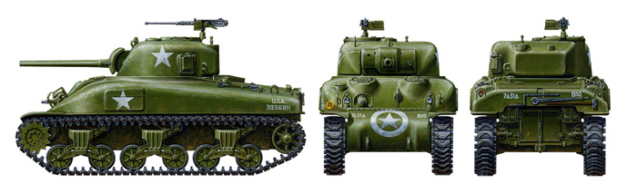 1/48 US Medium Tank M4A1 Sherman
