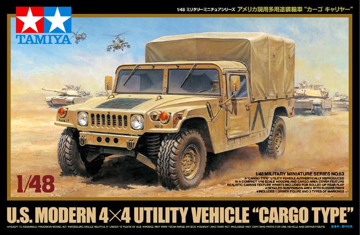 Náhľad produktu - 1:48 U.S. Modern 4×4 Utility Vehicle (Cargo Type)
