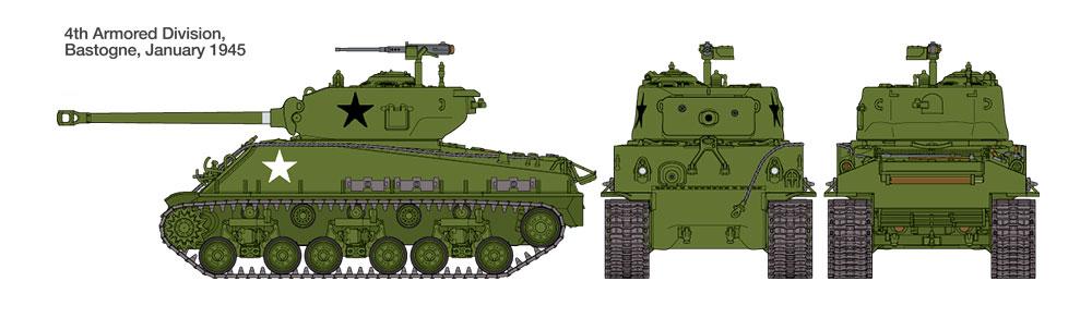 1/48 U S  Medium Tank M4A3E8 Sherman