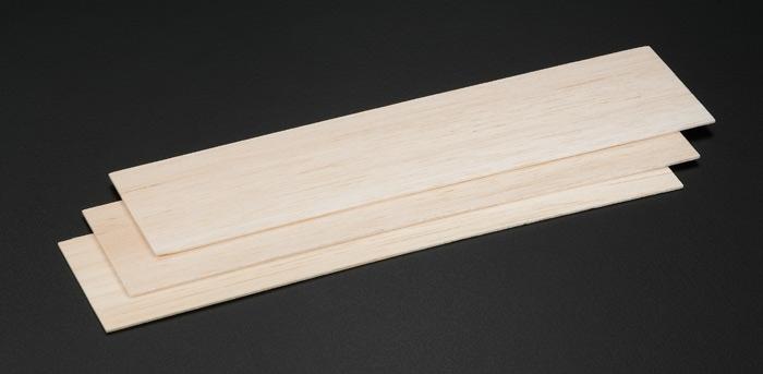 Balsa Wood Strips 1 6x75x305mm 3pcs )