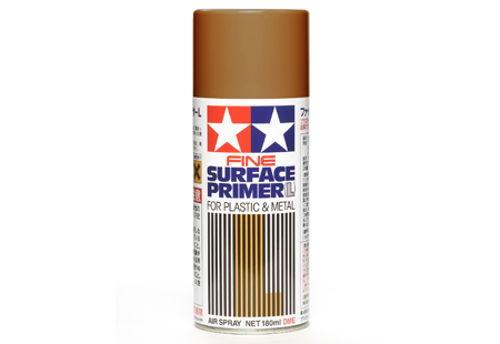 Fine Surface Primer L for Plastic & Metal (Oxide Red)