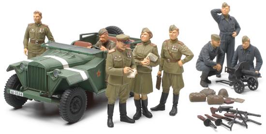 1 48 Russian Field Car Gaz 67b W Officers