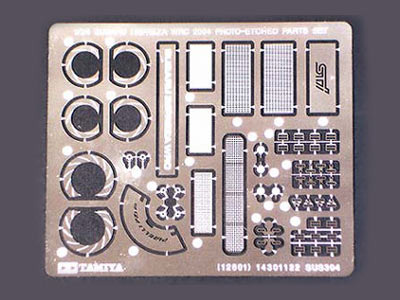 TAMIYA 12601-1//24 SUBARU IMPREZA WRC 2004 PHOTO-ETCHED PARTS SET